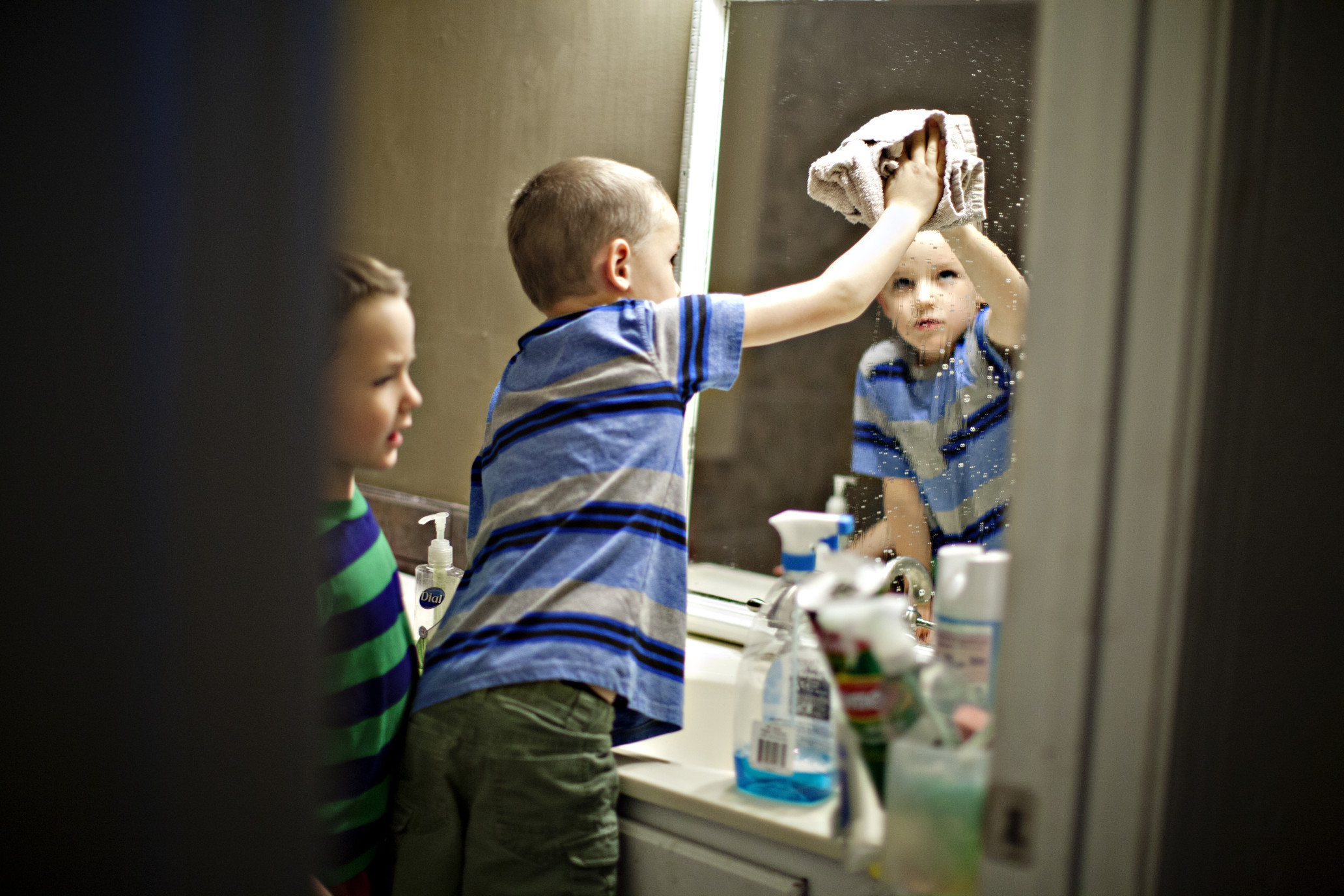 Cleaning and Organizing Kids Bathroom